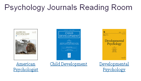 Psychology 3 Journal/Periodical Reading room 2