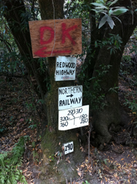 Signs of Moraga's past, when the railroad ran through the valley.