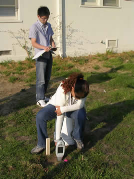 Saint Mary's College students in 2006 recorded spectra at Alameda Point on a site where a removal action had occurred to provide some additional data from an independent source for the community. The students utilized in situ XRF procedures.