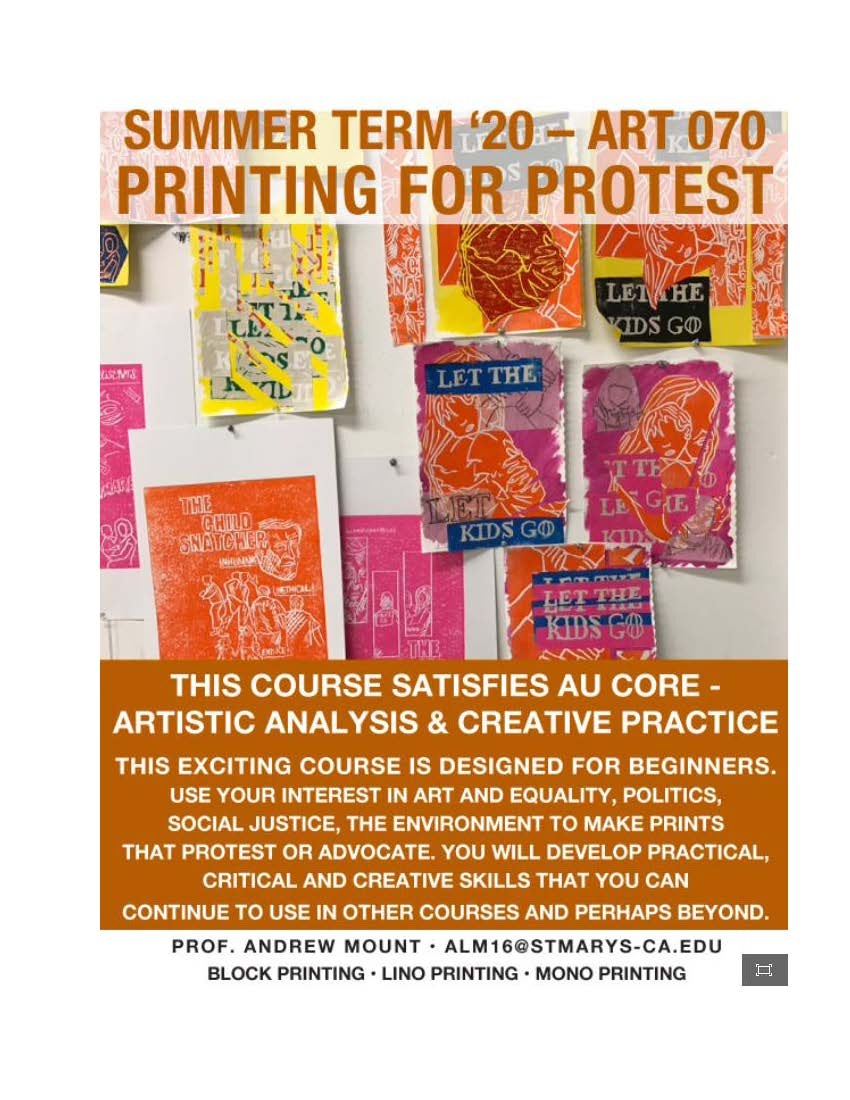 Art 70- Summer Term 2020 Printing for Protest