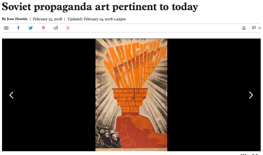 SF Chronicle story on SMC Museum exhibition on Soviet Propaganda art