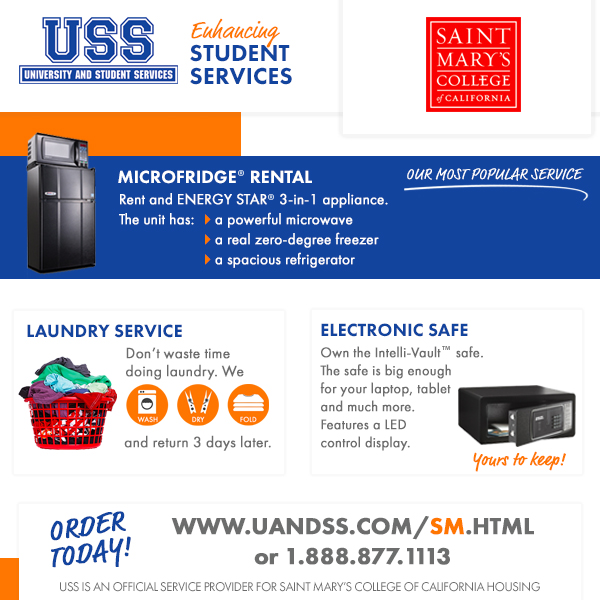 Information for Renting a Microfridge and Safe Purchases, And Laundry Services Contact 1-888-877-1113 for more information