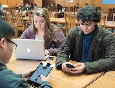 A survey by Educause found that 58 percent of today's college students, who grew up with digital technologies, owned at least three Internet-capable devices.