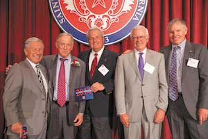 "Pictured: Al Frugaletti, Garth Flint, Bob Alberto, Nick Moore and C.J. ""Kit"" Ruona, all class of '63."