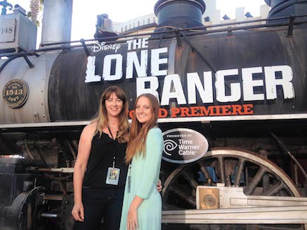 "Margaret French-Isaac '85 (shown here with her daughter, Sydney, at the premiere of ""The Lone Ranger,"" which she helped produce) says her experience in the Saint Mary's Graduate Education Office helped her land at Paramount Pictures."