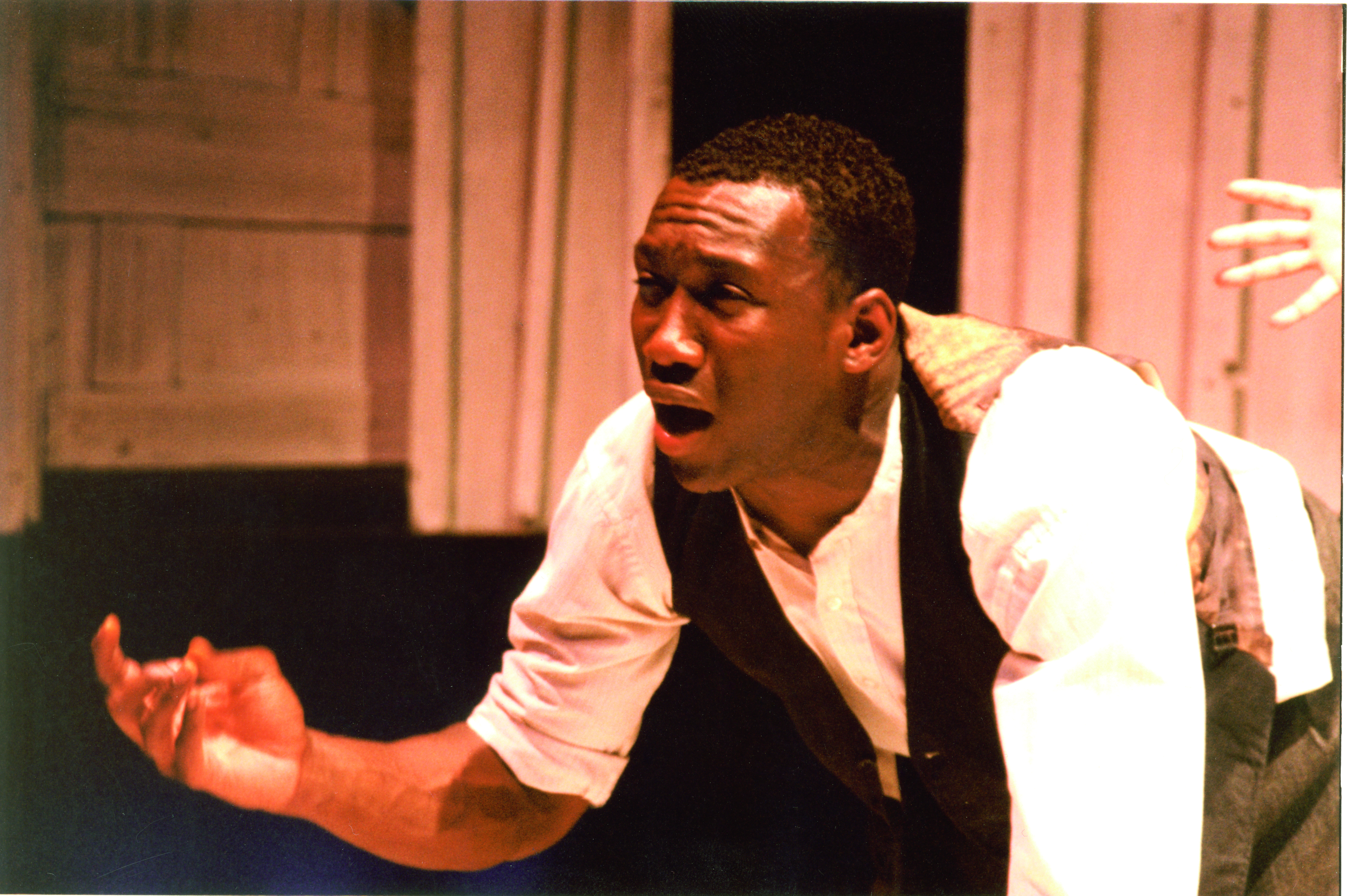 Mahershala Ali '96 performs in the SMC performance of Spunk.
