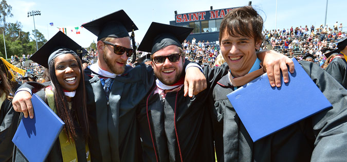 SMC students at undergraduate commencement.