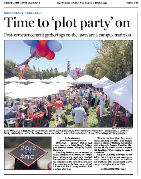 Screen Grab of of CC Times story on SMC Plot Parties