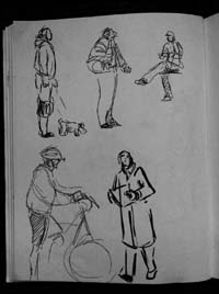 A page from one of Peter Kelly's SMC sketchbooks.