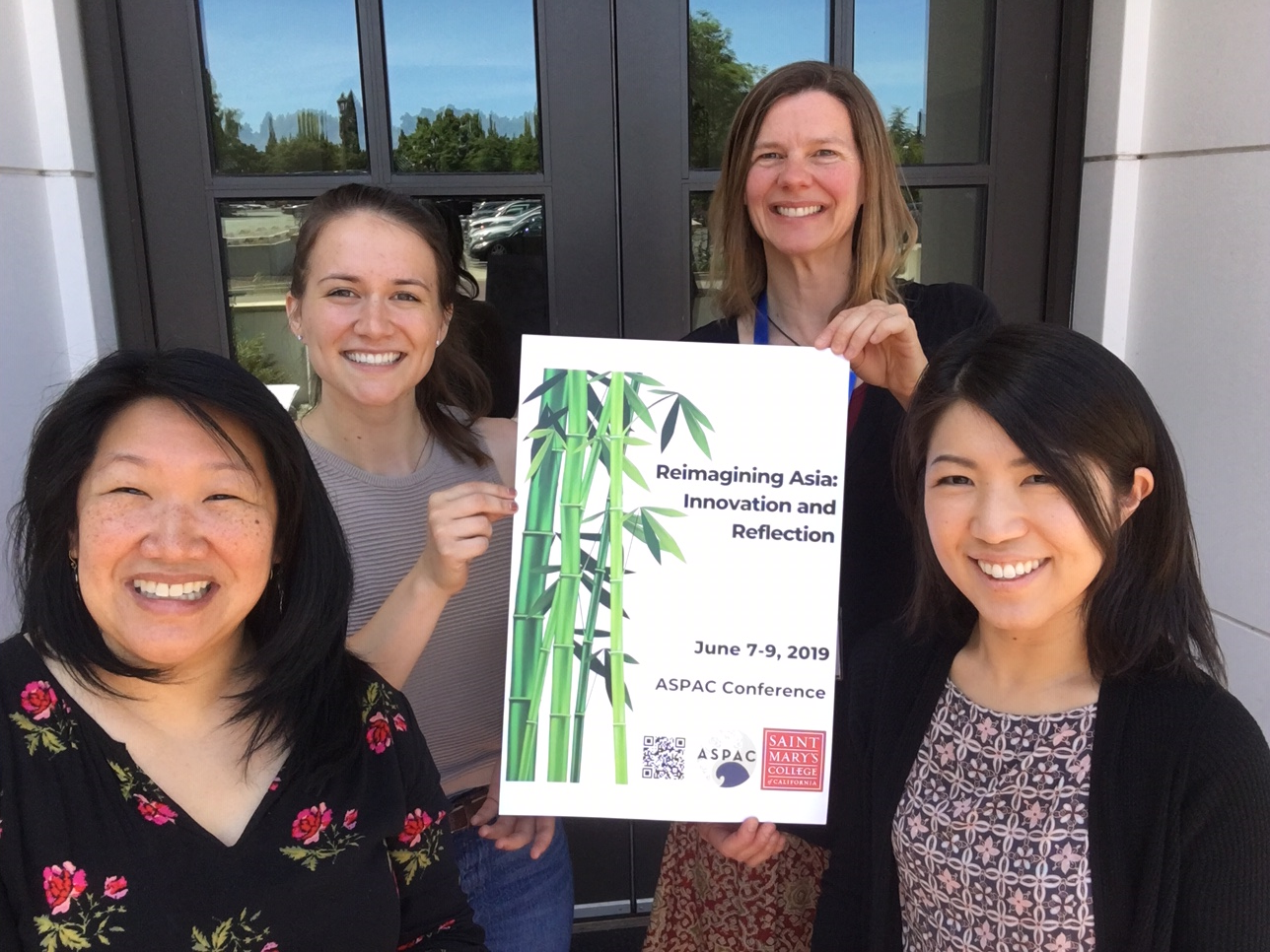 ASPAC Steering Committee (from left to right):Jennifer Heung (Anthropology), Isabella Navarro (Conference Local Arrangements Chair), Elena Songster (History and Conference Chair), Makiko Imamura (Communication).