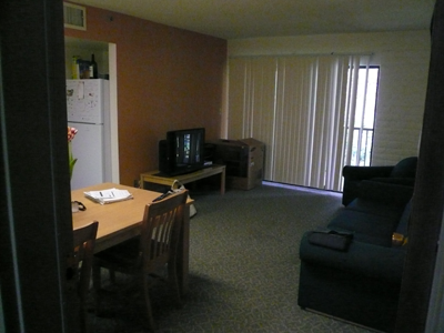 A typical townhouse common area