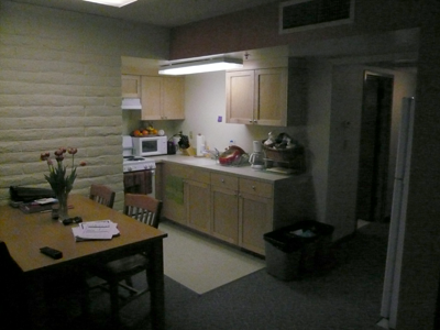 A typical townhouse kitchen