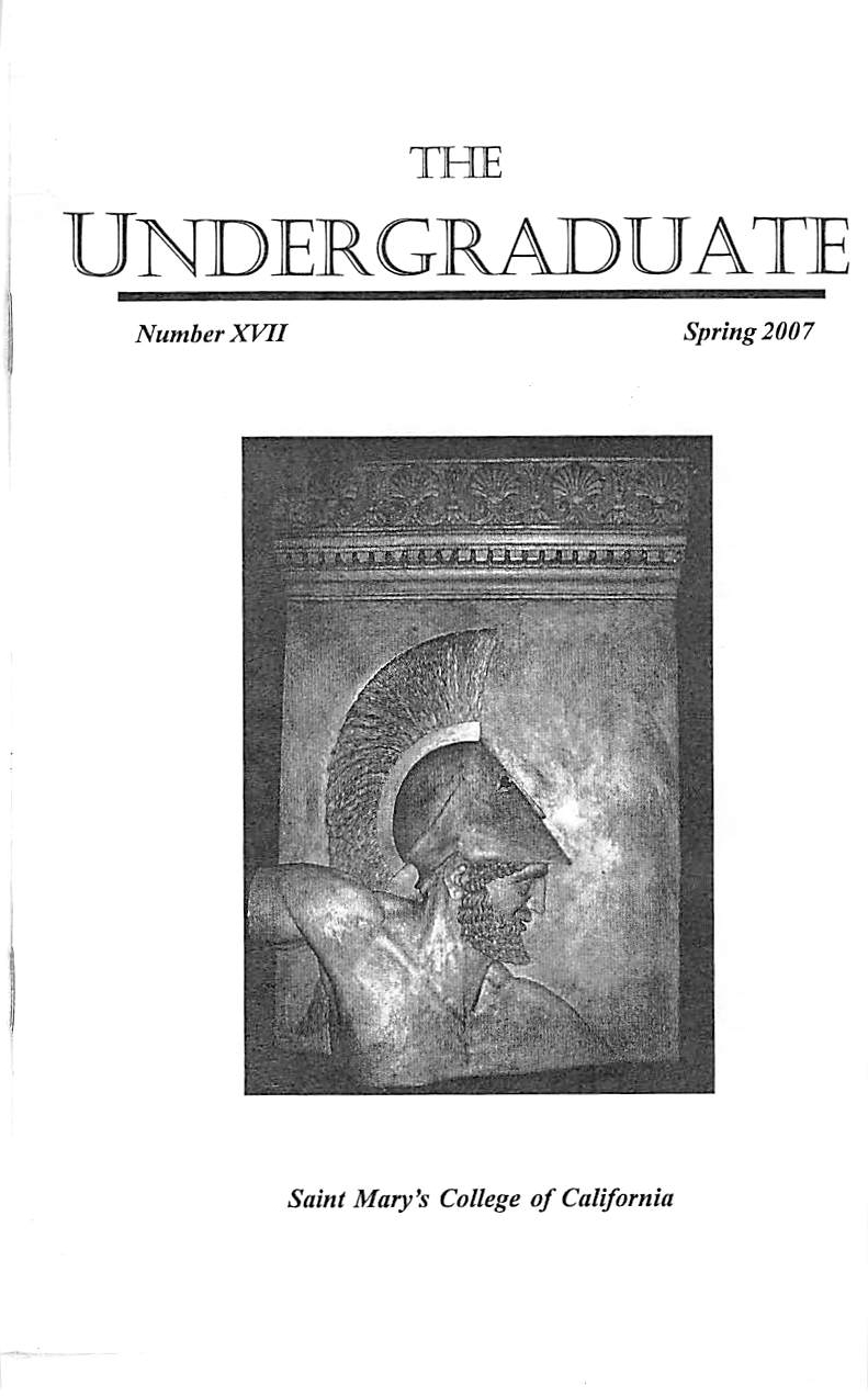 The Undergraduate 2007 Cover