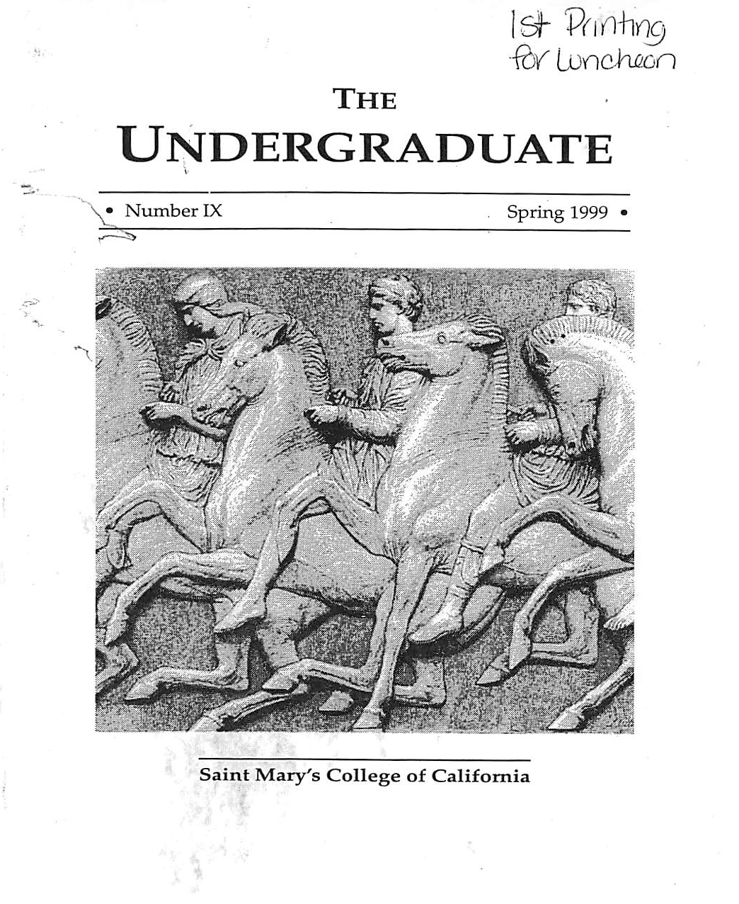 The Undergraduate 1999 Cover