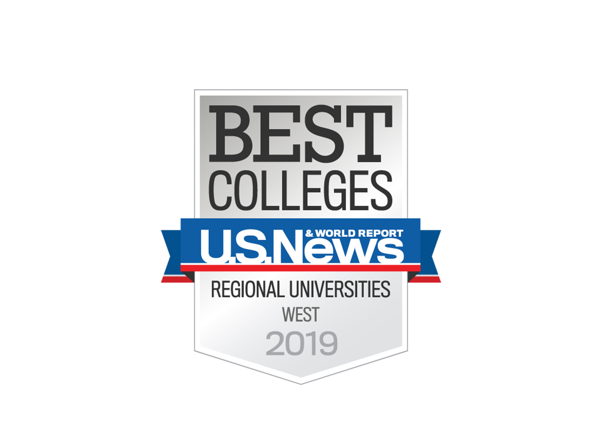 US News 2019 Best Colleges Regional Universities badge for news & event feature block