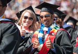 Thumbs up from a couple of new grads.