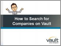 Link to how to search for companies on vault video