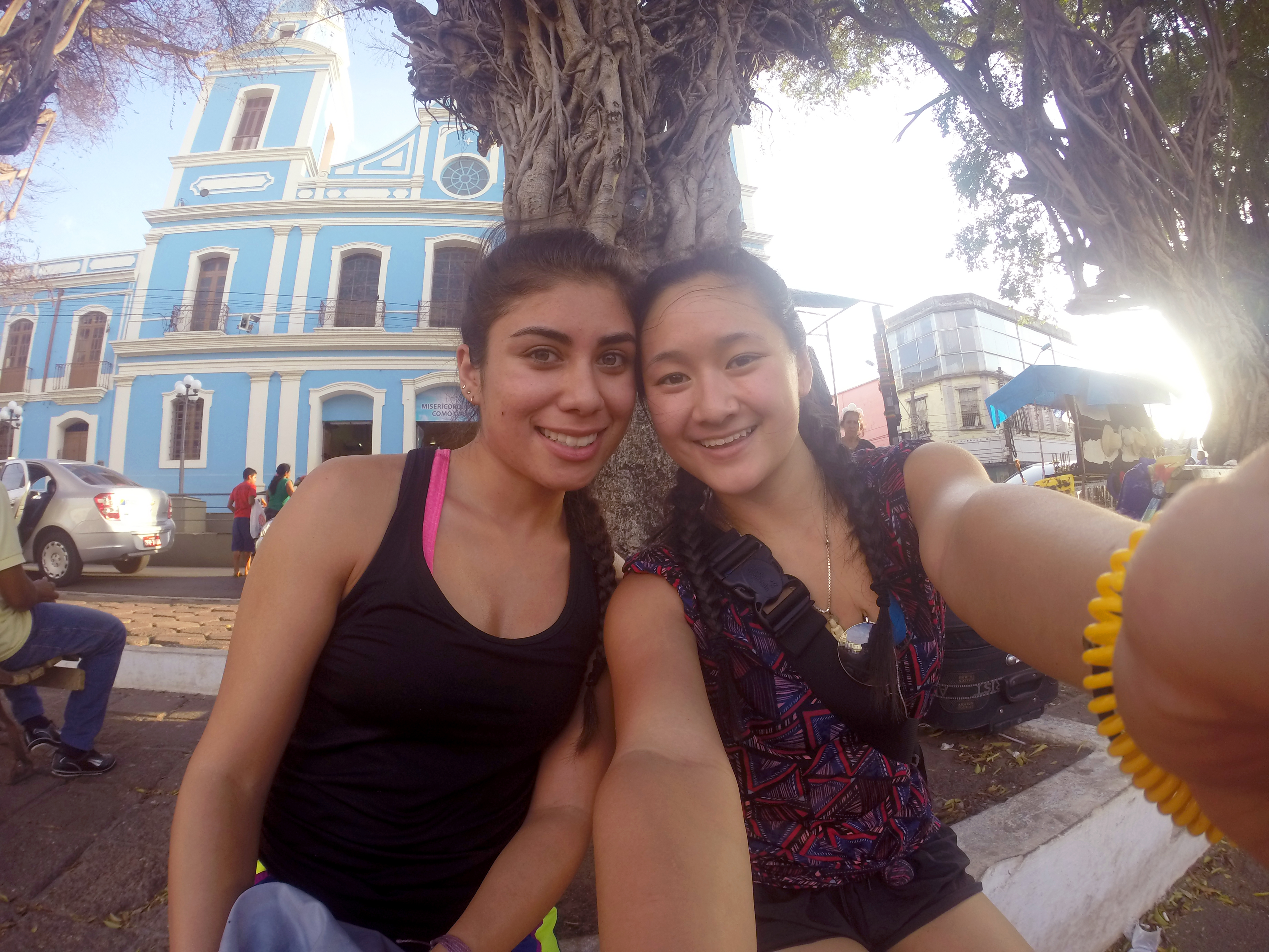 Students Annie Dao '17 and Arianna Segura '18 on a Jan Term trip to Brazil.