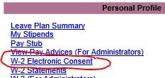 "Look for ""W-2 Electronic Consent"" in the GaelXpress Student/Faculty/Staff menu"