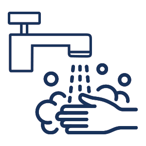 wash your hands regularly icons