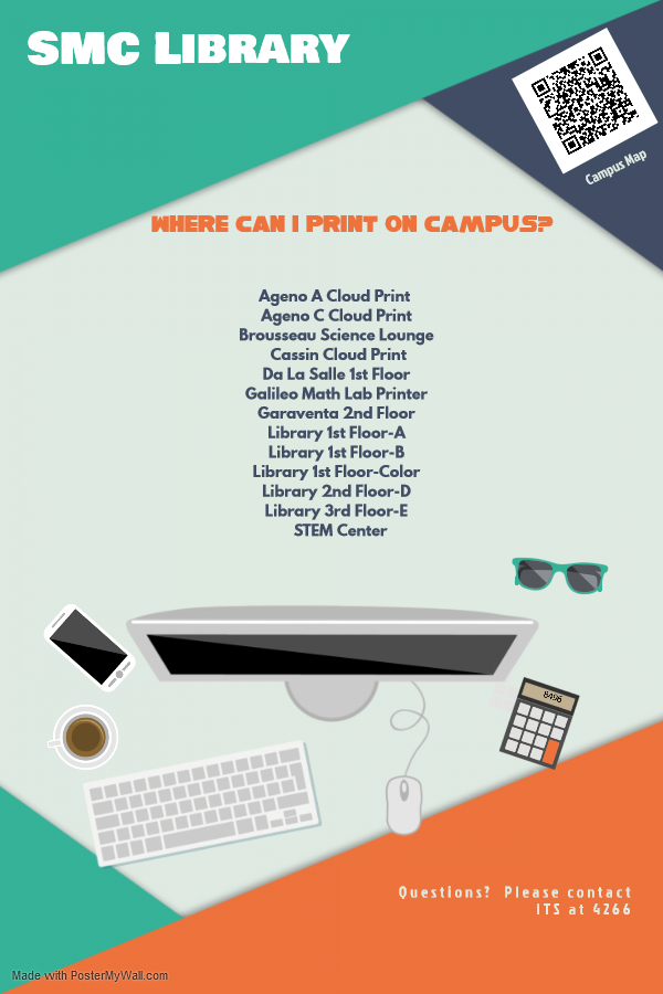 Where on campus can I print?