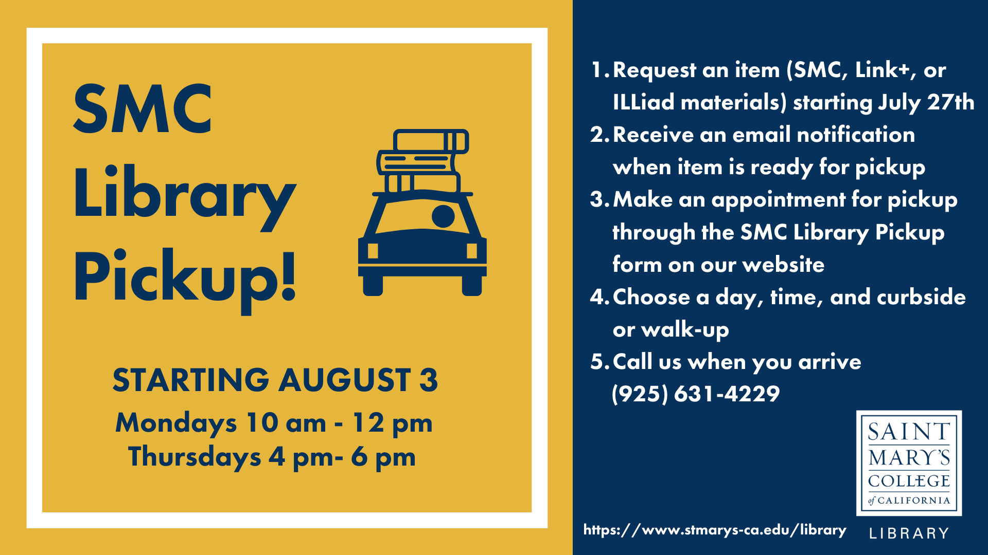 Library pickup service flyer (revised)