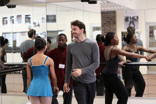 Alejandro Piris Niño teaches ballet class at Dance For All in Athlone.