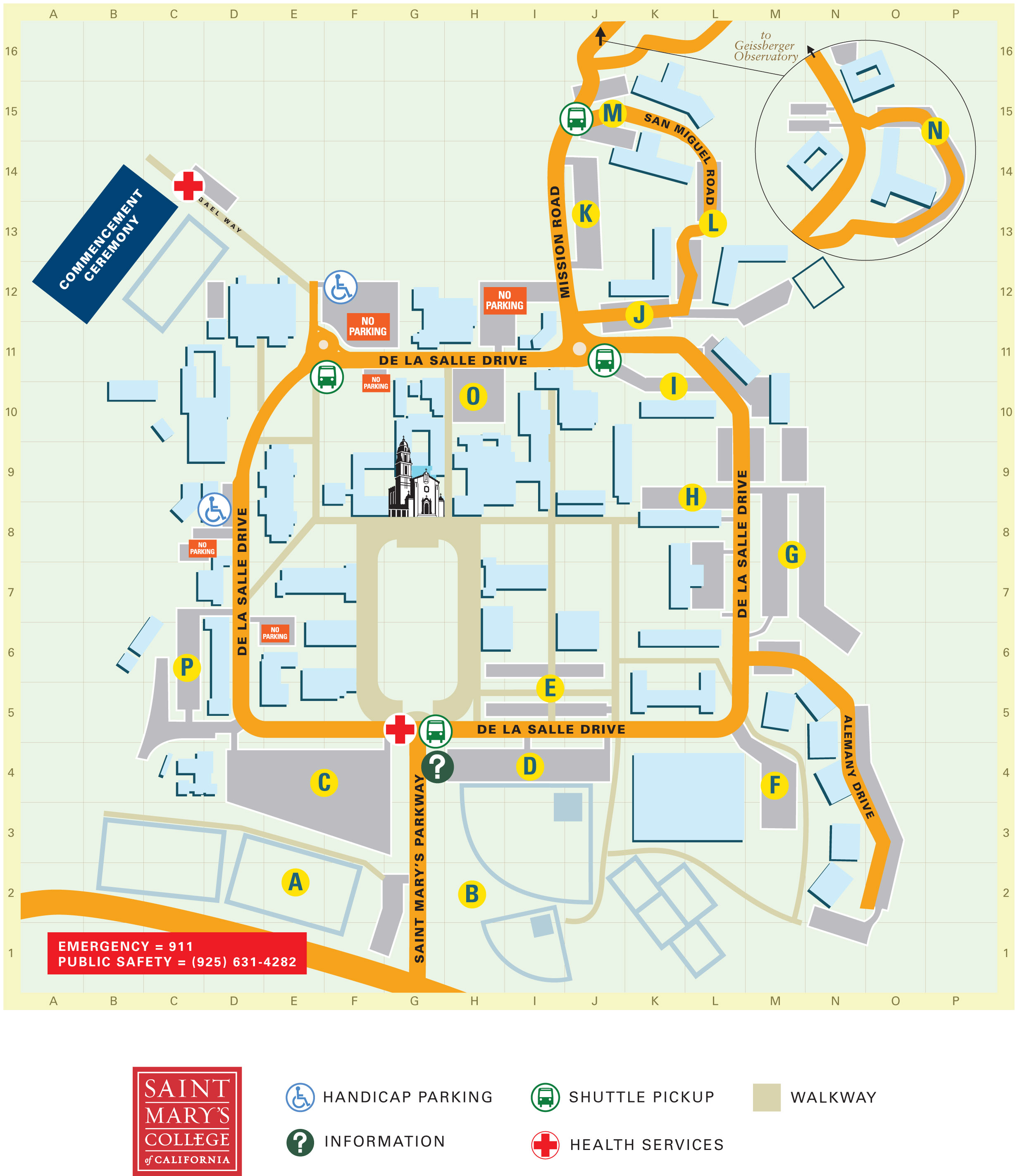 st marys campus map Parking Saint Mary S College st marys campus map