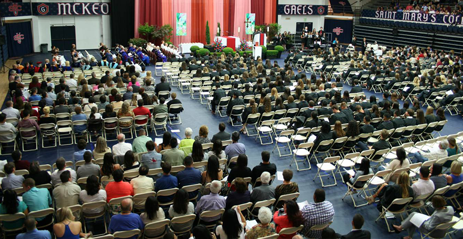 SMC community gathers for commencement Mass