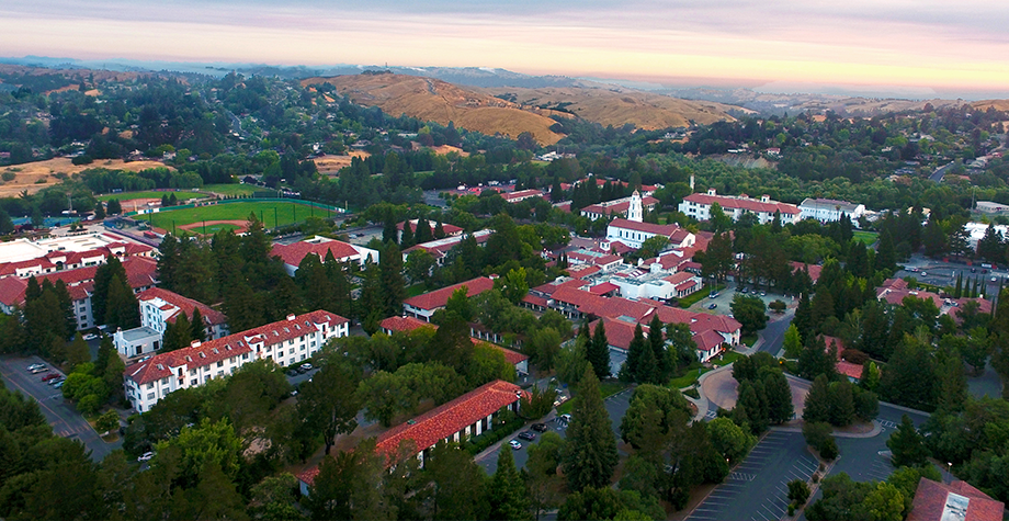 overhead view of Smc Campus