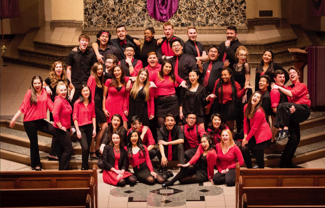 Choir and Glee Club Students