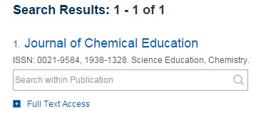 screen capture of abbreviated journal search