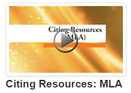 Citing Resources: MLA video