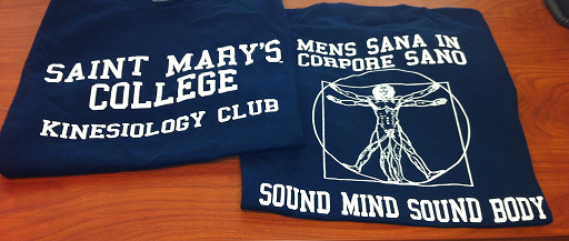 Kinesiology Club T-Shirts: Front and Back View