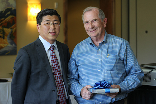 SEBA Professor Dick Courtney with Dean Zhan Li