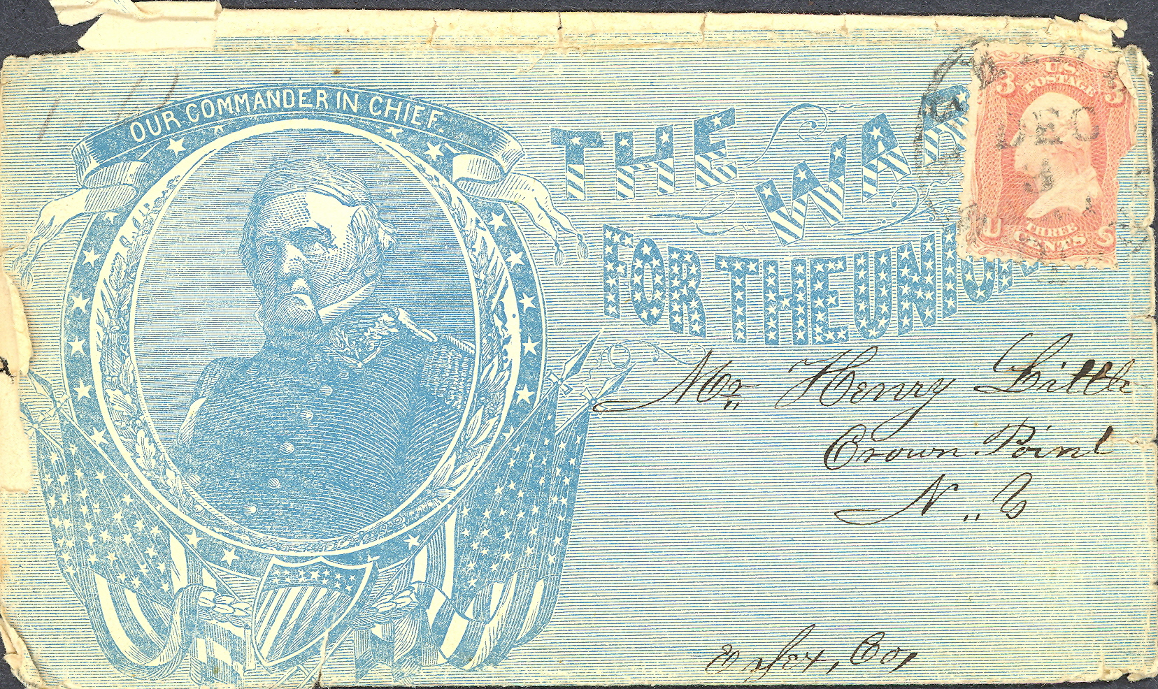 Envelope of one of Forrest's letters to his parents