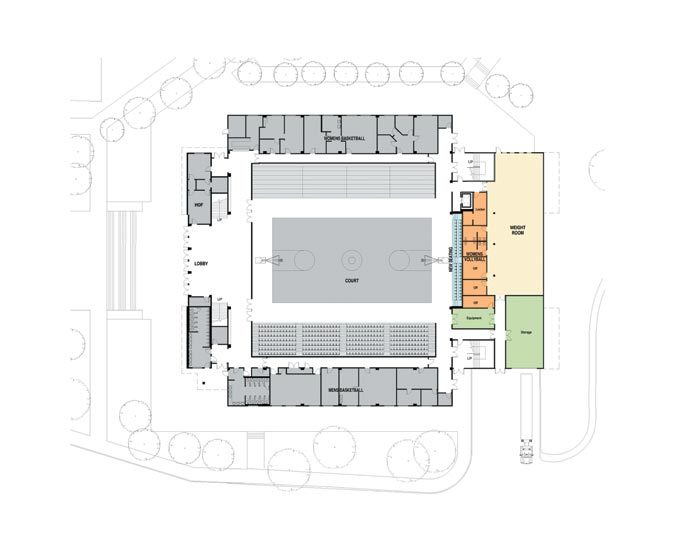 First floor map of new SAPC.