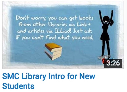 SMC Library Intro for New Students