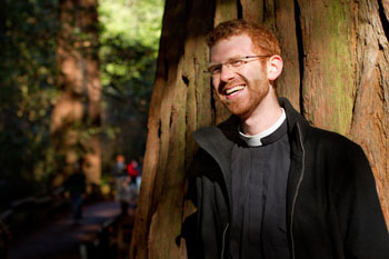Father Justin Cannon, priest-in-charge at St. Giles Episcopal Church, Moraga