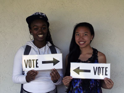 Aleysha Thomas '16 and Christina Nguyen '16
