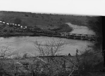 Germanna River Crossing with Grant's troops