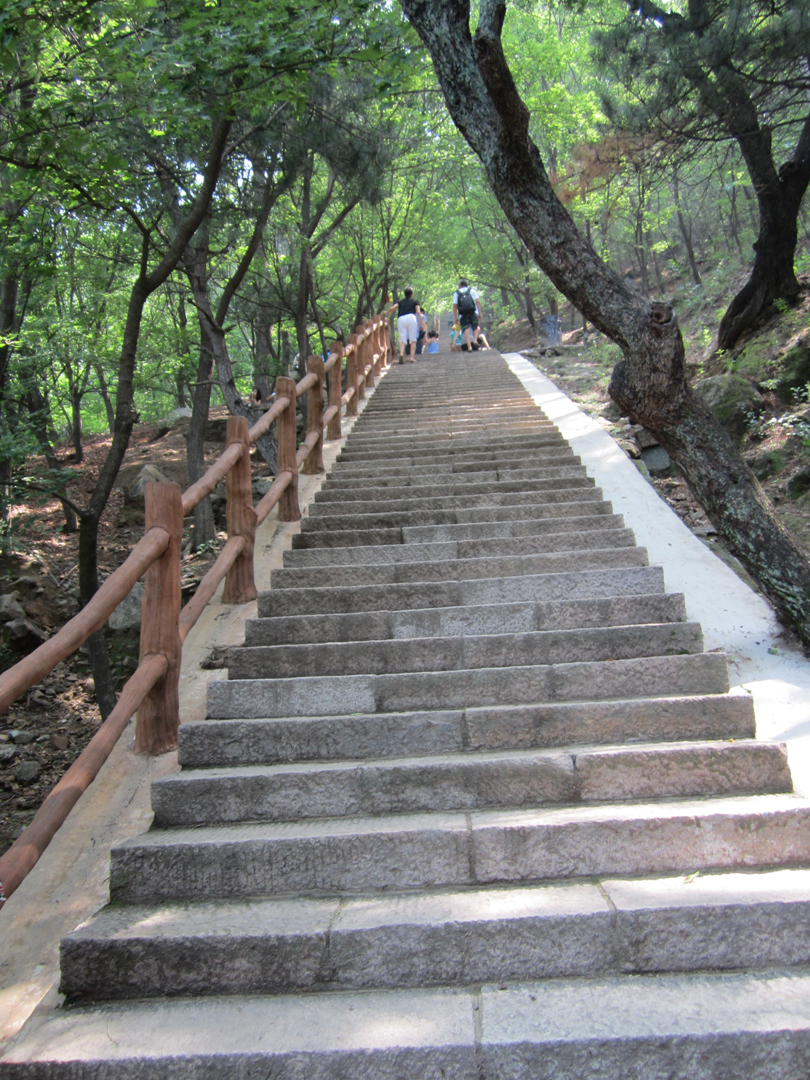 Stairs on the way up to the Great Wall of China