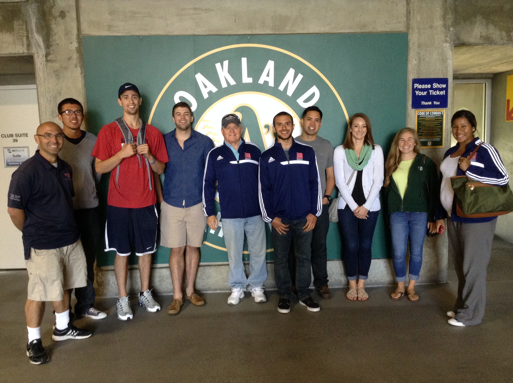 KINES 374 Trip to the Oakland Coliseum