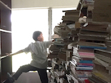 [Margaret Brown-Salazar, a Saint Mary's education librarian for 12 years, arrived at the San Francisco airport with more than just her ticket and luggage for her Jan Term trip to the Philippines. She and four student volunteers lugged 100 books, and had arranged to ship 800 more.]
