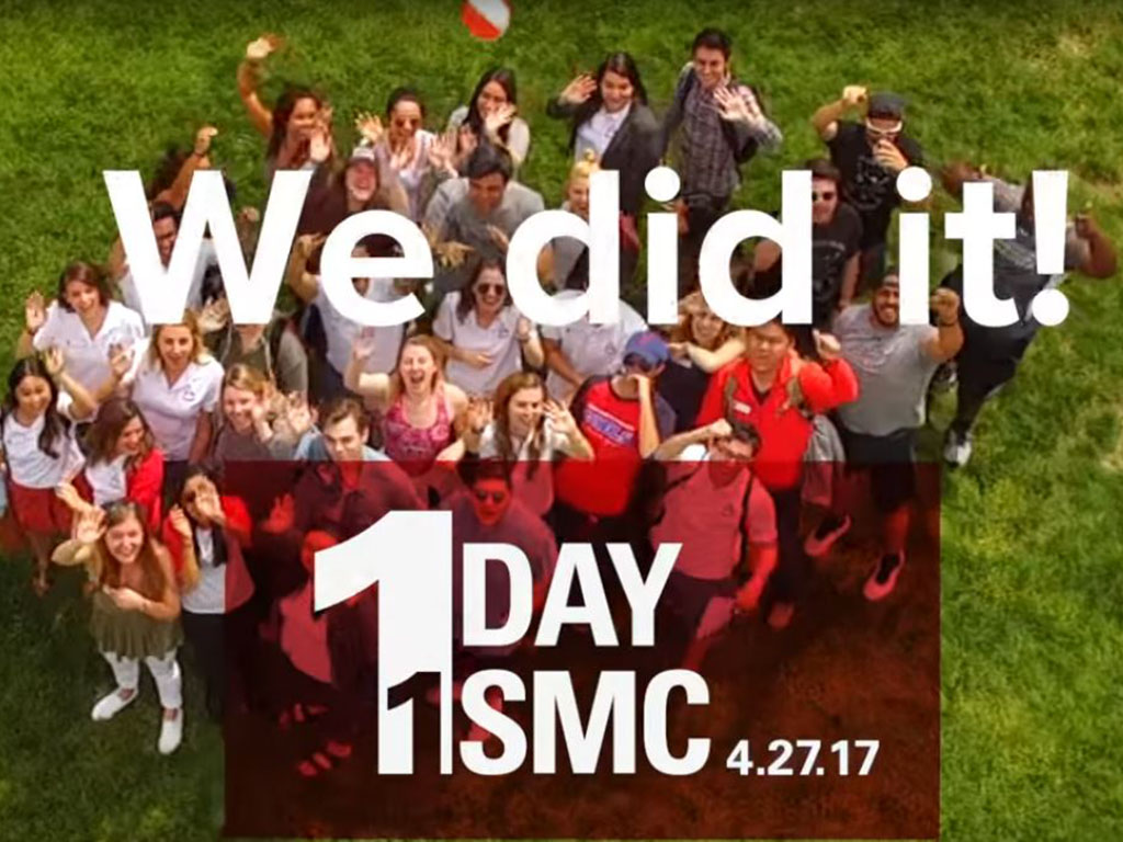 Thank you to our donors for believing in SMC and our students.