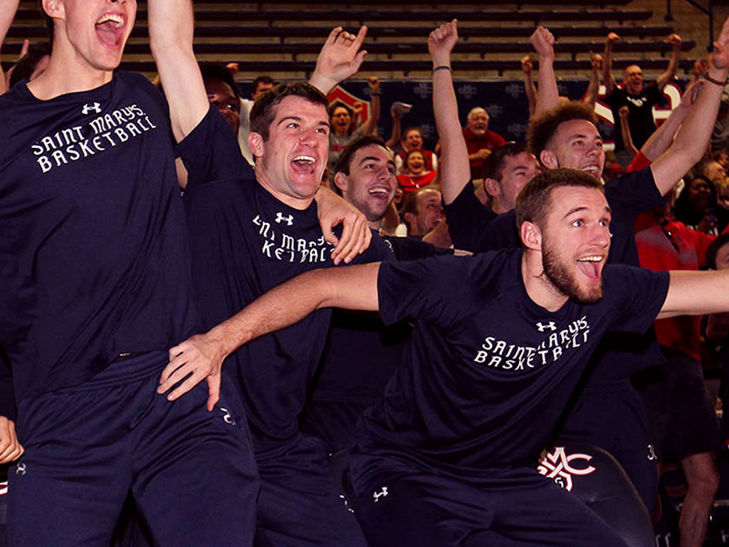 saint mary s college congratulations to the men s basketball team on heading to the ncaa tour nt gogaels