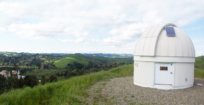 The Geissberger Observatory commands a sweeping view of the Moraga Valley - and the skies above.