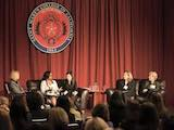 [Stay true to yourself, love what you do, and push beyond your imagination. That was some of the advice offered to Saint Mary's students in March when Provost Bethami Dobkin moderated a panel of four women working in federal public service in positions ranging from district court judge to Federal Reserve Bank director. ]