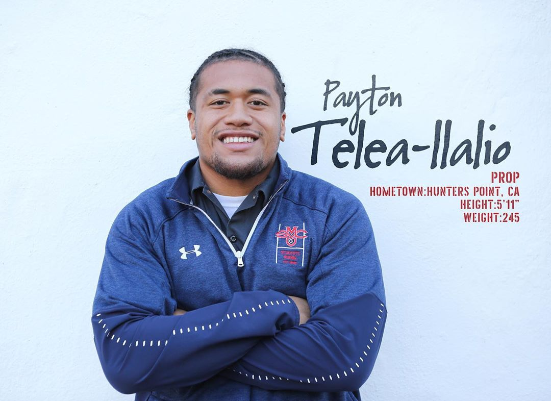 Men's rugby player Payton Taleo Ilalio '20