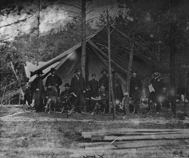 General Grant and staff at Cold Harbor